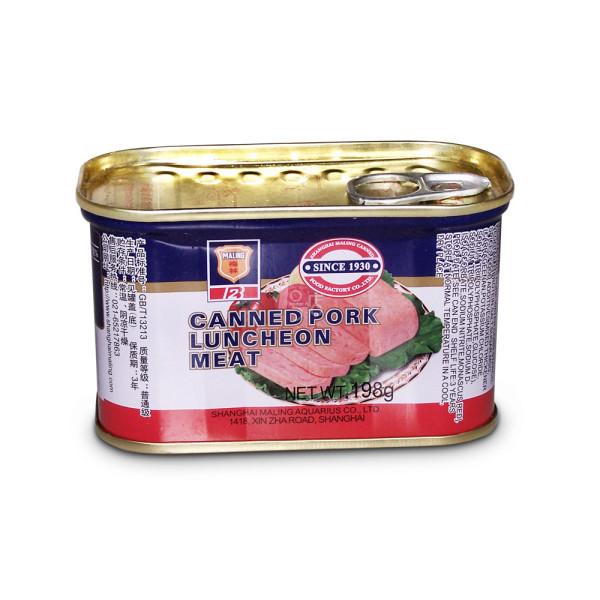 梅林午餐肉罐头...